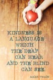 Kindness quote heart Royalty Free Stock Photo