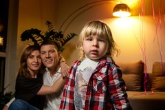Kindportret - Familie hollyday Foto Royalty-vrije Stock Afbeeldingen
