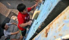 Kindpraktijk het beklimmen Stock Afbeeldingen
