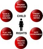 Kindrechte Stockbild