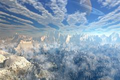 Kindred Valley. Computer generated landscape image Stock Illustration