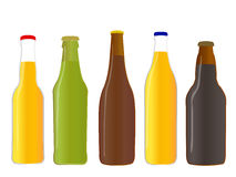 Kinds of Beer Full Bottles Royalty Free Stock Image