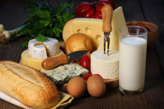Kinds of cheese Stock Photo