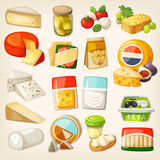 Kinds of cheese Stock Image