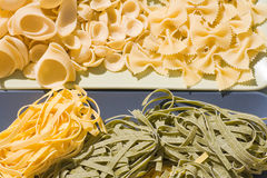 Kinds of pasta royalty free stock images