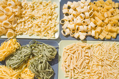 Kinds of pasta stock photo