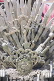 Kinds, royal throne made of iron swords, seat of the king, symbo Royalty Free Stock Photography