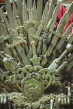 Kinds, royal throne made of iron swords, seat of the king, symbo Stock Photography