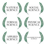 Kinds of Science Laurels 1 Royalty Free Stock Image
