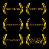 Kinds of Social Science Laurels 2 Royalty Free Stock Photo