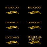 Kinds of Social Science Laurels 4 Royalty Free Stock Images