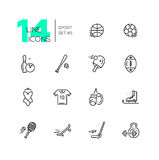 Kinds of Sport - line icons set Royalty Free Stock Photography