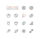 Kinds of Sport - line icons set vector illustration