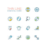 Kinds of Sport - line icons set Stock Image