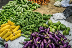 Kinds of vegetbles in green grocer at tarditional market photo taken in Bogor Indonesia Royalty Free Stock Photos
