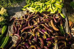 Kinds of vegetbles in green grocer at tarditional market photo taken in Bogor Indonesia Stock Photography