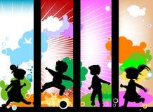 Kindschattenbilder lizenzfreie abbildung