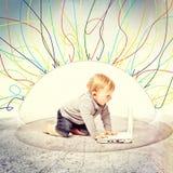 Kindschild Stock Foto