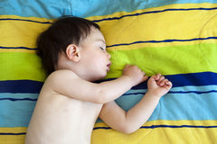 Kindschlafen Stockfoto