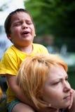Kindschreien traurig Lizenzfreie Stockbilder