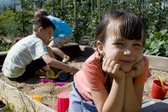 Kindspielen Stockfoto