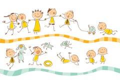Kindspielen Stockbild