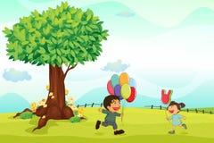 Kindspielen im Freien Lizenzfreie Stockfotos