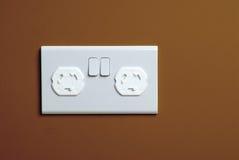 Kindveilige stopcontactdoos Stock Foto