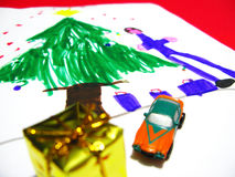 Kindweihnachtszeichnung Lizenzfreies Stockbild