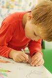 Kindzeichnung Stockbild