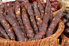 Kindziuk. Traditional smoked sausage from Lihuania Stock Photography