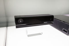 Kinect 2.0 for Xbox One. LOS ANGELES - JUNE 11: Microsoft showing final Xbox One and new Kinect retail design for the first time at E3 2013, the Expo for video Royalty Free Stock Photography