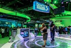 Kinect的舞蹈中央3在E3 2012年 免版税库存照片