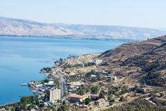 Kineret湖,以色列 免版税库存图片