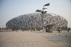 Kines Asien, Peking, den nationella stadion Arkivfoto