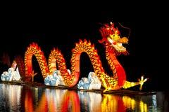 Kines Dragon Lantern Royaltyfri Foto