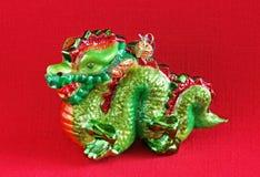 Kines Dragon Ornament Royaltyfri Bild