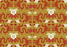 Kines Dragon Pattern Stock Illustrationer