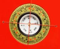 Kines Feng Shui Compass Arkivfoton