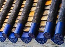 Kines glasad tegelplatta Royaltyfri Foto