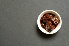 Kines jäst Tofu i liten bunke Royaltyfri Bild