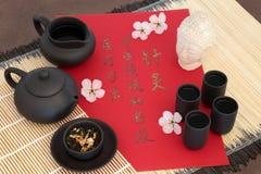 Kines Jasmine Tea Alternative Medicine Royaltyfri Fotografi