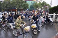 Kines Kina befolkning Fotografering för Bildbyråer