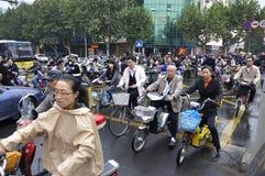 Kines Kina befolkning Arkivfoto