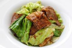 kines lagad mat matpork två gånger arkivbilder