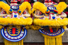 Kines Lion Dance Costume Royaltyfri Bild