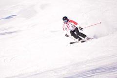 Kines skidar sportar Arkivfoton