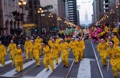Kines ståtar San Francisco 2016 CA, året av apan royaltyfri foto