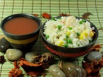 kines stekt rice royaltyfria bilder