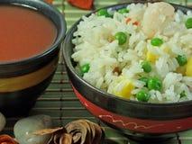 kines stekt rice Arkivbild